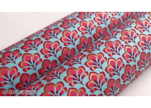 Papier indien replay rose, turquoise et or