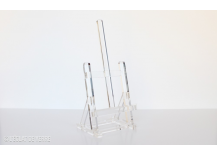 Chevalet de table en plexiglas, hauteur : 38 cm