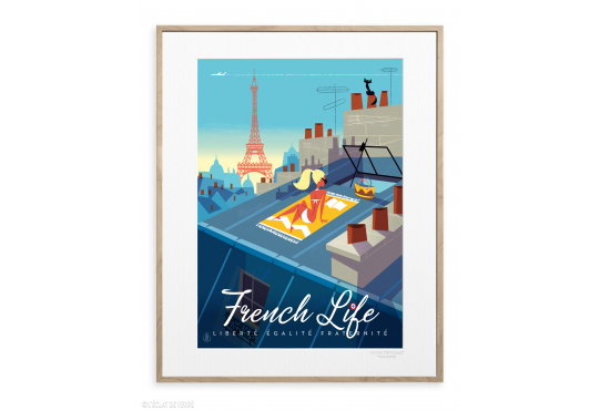 Affiche 40x50 cm FRENCH LIFE