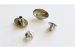 2 BOUTONS OVALS NICKEL